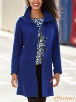 Eredeti Cellba prémium minőségű kék egysoros gombolású midi kabát