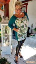 Fashion by NONO - Bőrhatású, szuper jól összetartó fekete leggings