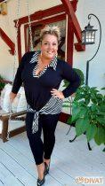Fashion by NONO - Fekete vastagabb pamut hosszú leggings