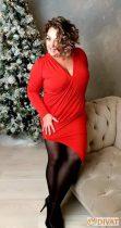 Fashion by NONO - Piros hasnál húzott szexi mini tunika-ruha