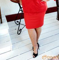 Fashion by NONO - Louna piros pamut szoknya