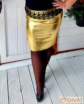 Fashion by NONO - Louna arany ceruzaszoknya