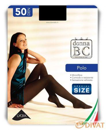 Polo 50 den-es Maxi mikrofibrás, elől-hátul nagybetétes Plus Size harisnyanadrág 5 méret