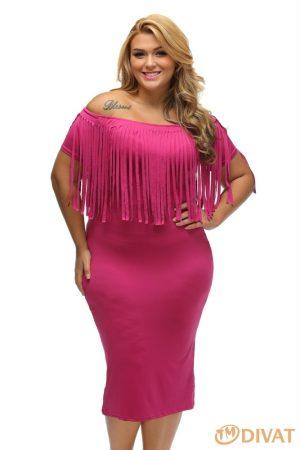 Rojtos midi ruha rosy színben