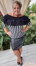 Fashion by NONO  - Louna bőrhatású fekete szoknya