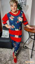 Fashion by NONO - Best tunika pihe-puha virágmintás anyaggal
