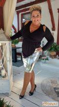 Fashion by NONO - Louna ezüst ceruzaszoknya
