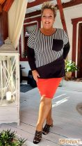 Fashion by NONO - Netti fekete-fehér csíkos felső