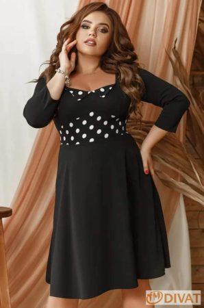 Priora Plus - Gyönyörű fekete-fehér pöttyös ruha