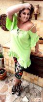Fashion by NONO zöld fodros felső