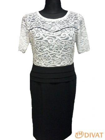 Fehér-fekete csipkés ruha