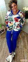 Fashion by NONO -Királykék pamut leggings
