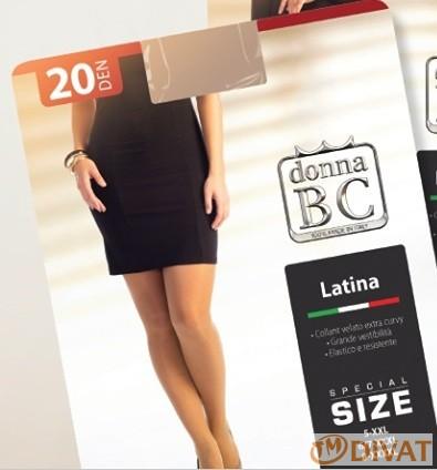Latina 20 den Maxi has és fenékbetétes krepp harisnyanadrág 6/7 és 8 méret