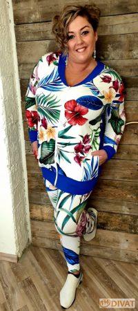 Fashion by NONO - Virágmintás pamut leggings