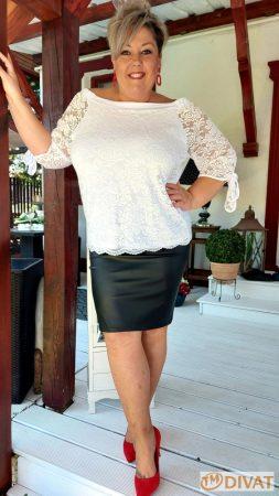 Fashion by NONO - Lace fehér csipkés tunika