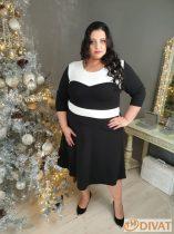 Fekete-fehér alkalmi ruha