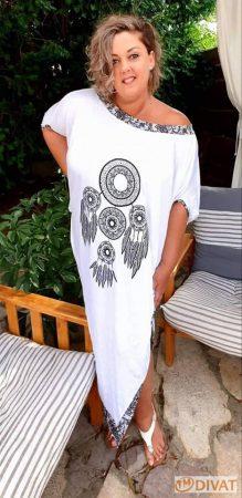 """Fashion by NONO"" Manhattan Incsucsu maxi ruci fehér álomfogó mintával"