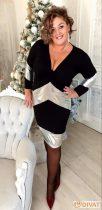 Fashion by NONO ezüst betéttel díszített pamut ruha