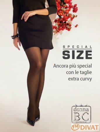 Florence 40den Maxi elasztikus, elől-hátul nagybetétes Plus Size harisnyanadrág 6/7 és 8 méret