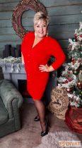 Fashion by NONO - Rendy piros ruha kövekkel díszítve